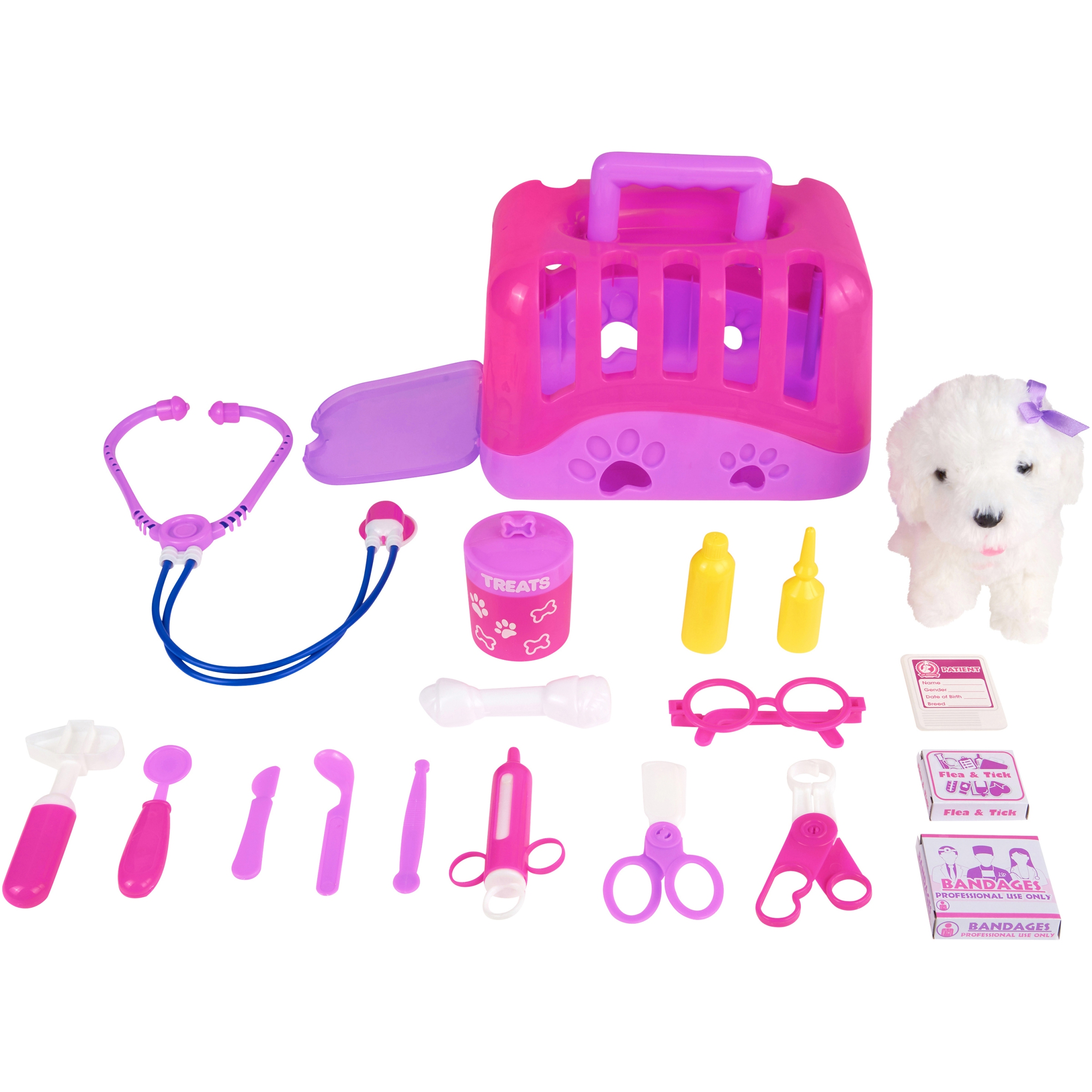 Kid Connection 20-Piece Veterinary Play Set, Designed for Ages 3 and Up