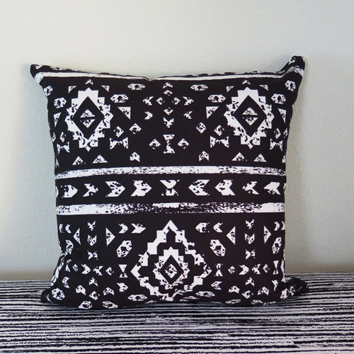 Arthouse Innovations Aztec Ornaments on Geometric Ethnic Throw Pillow