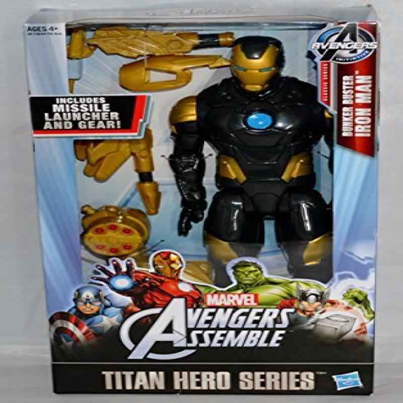 Marvel Avengers Titan Hero Series Bunker Buster Iron Man Figure by