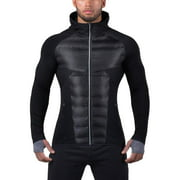 Fitness Winter Men's Warm Cotton-padded Clothes Light-weight Sports Cotton-padded Jacket Male Sportswear