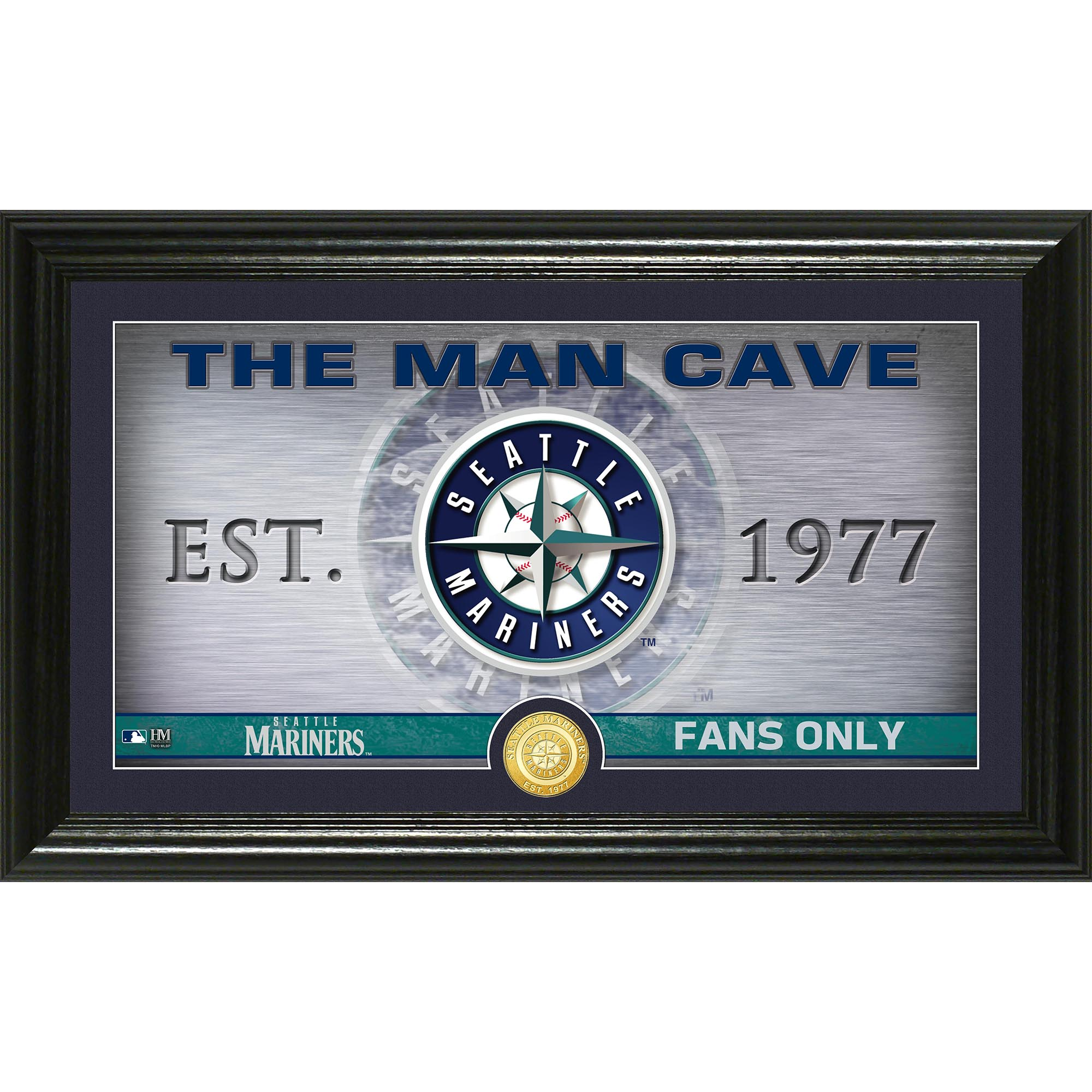 "Seattle Mariners Highland Mint 12"" x 20"" Man Cave Pano Photo Mint - No Size"