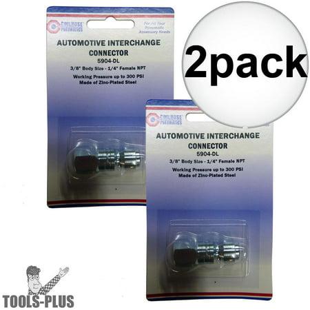 "Coilhose 5904 1/4"" NPT Female P Plug Air Fitting 2-Pack"