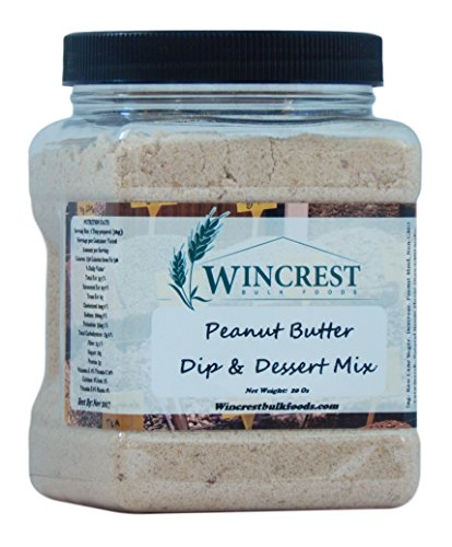 Dip & Dessert Mix 20 Oz Tub (Peanut Butter) by Bulk Foods, Inc