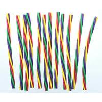 """Lot of 12 Rubber 8"""" Spiral Eraser Sticks Party Favors"""