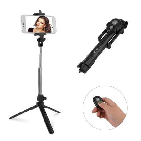 Travel Friendly Portable Wireless Remote Control Selfie Stick And Mini Tripod for Smart