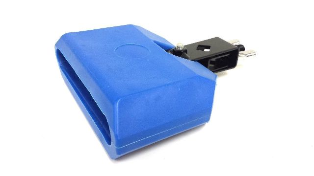 "Cow Bell 5"" Blue Plastic Latin Percussion Drum Percussion Musical Accessory by Zebra"