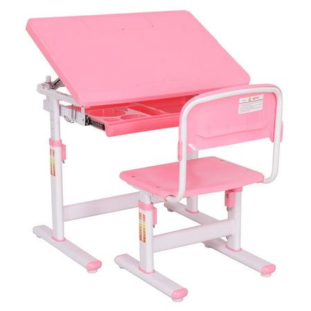 Goplus Adjustable Study Children Desk Chair Student Kids Work