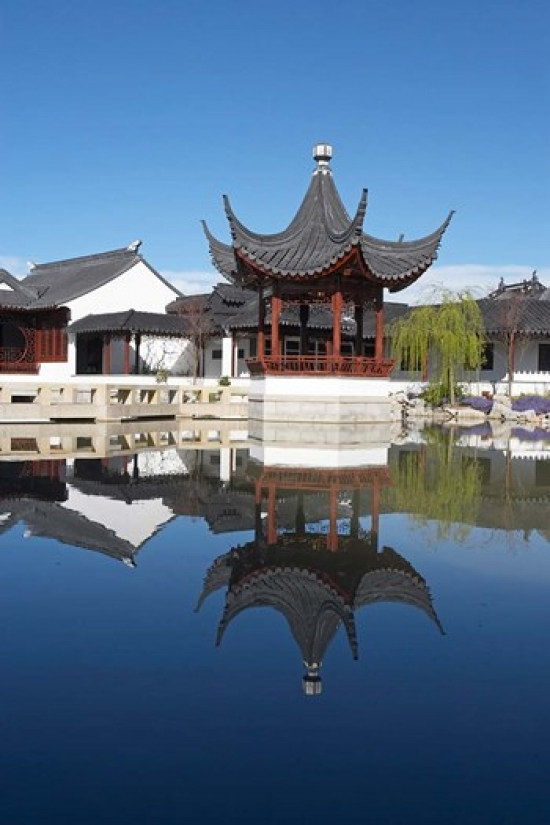 David Wall / DanitaDelimont Stretched Canvas Art   Chinese Garden, Dunedin,  Otago, South