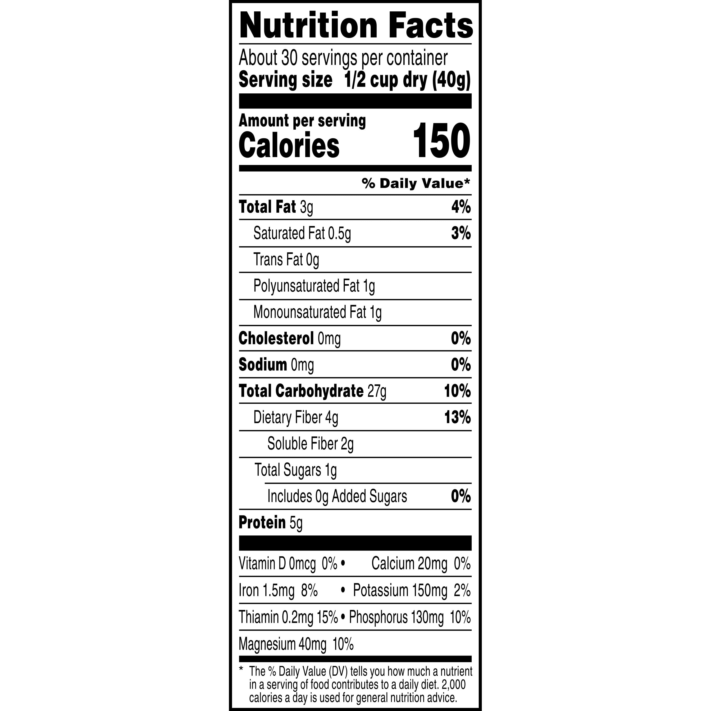 Kết quả hình ảnh cho quaker oats old fashioned nutrition facts