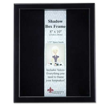 790080 Black Wood Shadow Box 8x10 Picture Frame
