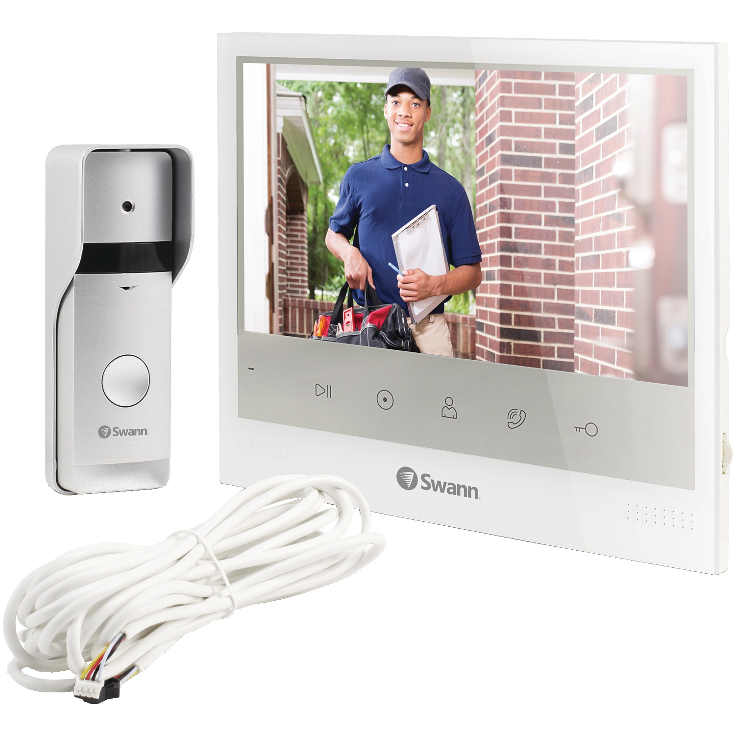 "Swann SWADS-DP885C-US Wired Doorphone With 7"" Monitor"