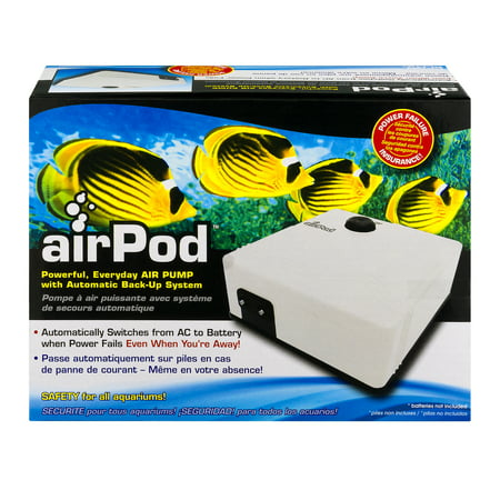 Backup Pump System - Penn-Plax airPod Air Pump with Automatic Backup System, 1.0 CT