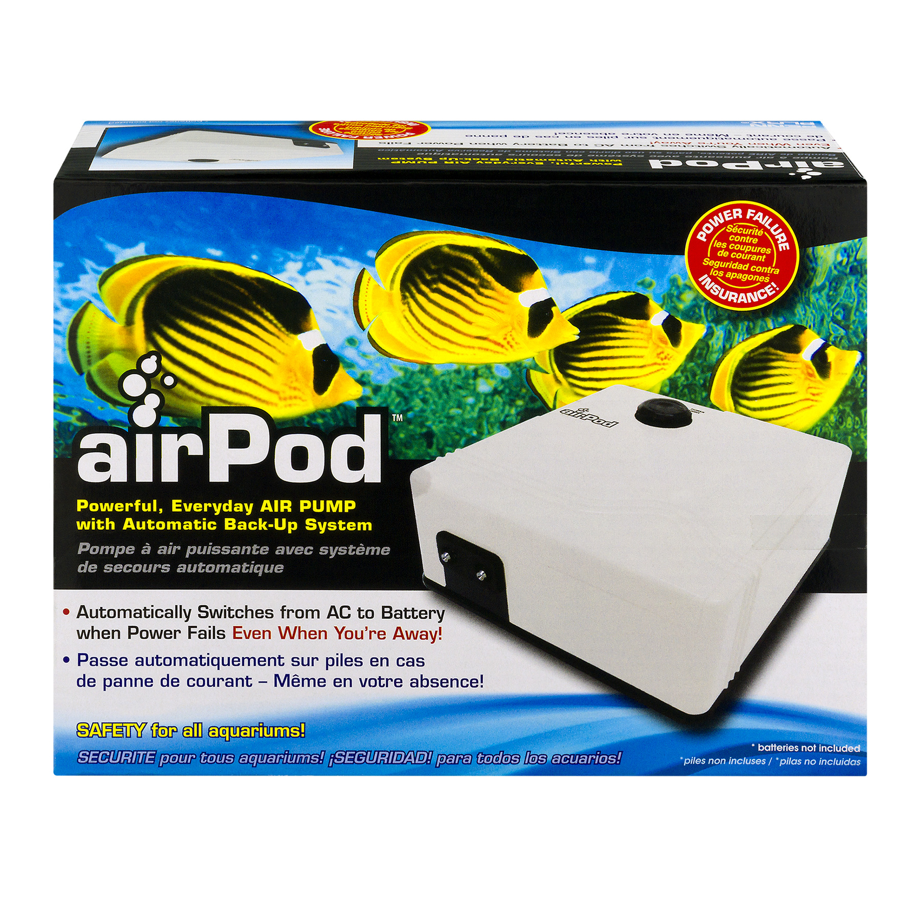 Penn-Plax airPod Air Pump with Automatic Backup System, 1.0 CT