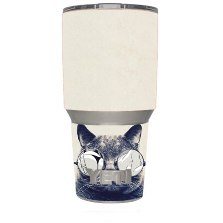 Skin Decal For Yeti 30 Oz Rambler Tumbler / Cool Cat Kat Shades Glasses Tumblr