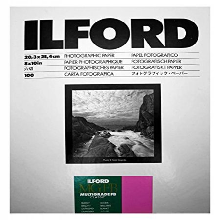Ilford Multigrade IV FB Fiber Based VC Variable Contrast Double Weight Black and White,8x10, 100 Sheets Glossy, Enlarging Paper (B&w Papers Fiber Base)
