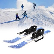 Ccdes Snowboards Kit,65cm ABS Children Kids Snowboard Skis Double Plates with Poles Skiing Beginner Kit, Children Skis Kit