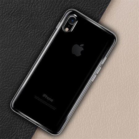 iPhone X Clear Case Tempered Glass Combo, Premium Slim Fit Shockproof Soft Gel TPU Cover Shell Skin Case with 9H Ultra HD Tempered Glass Screen Guard for iPhone X - Wireless Charging Compatible ()