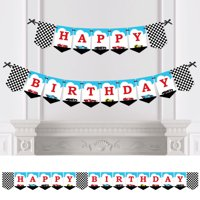Let?s Go Racing - Racecar - Birthday Party Bunting Banner - Race Car Birthday Party Decorations - Happy Birthday