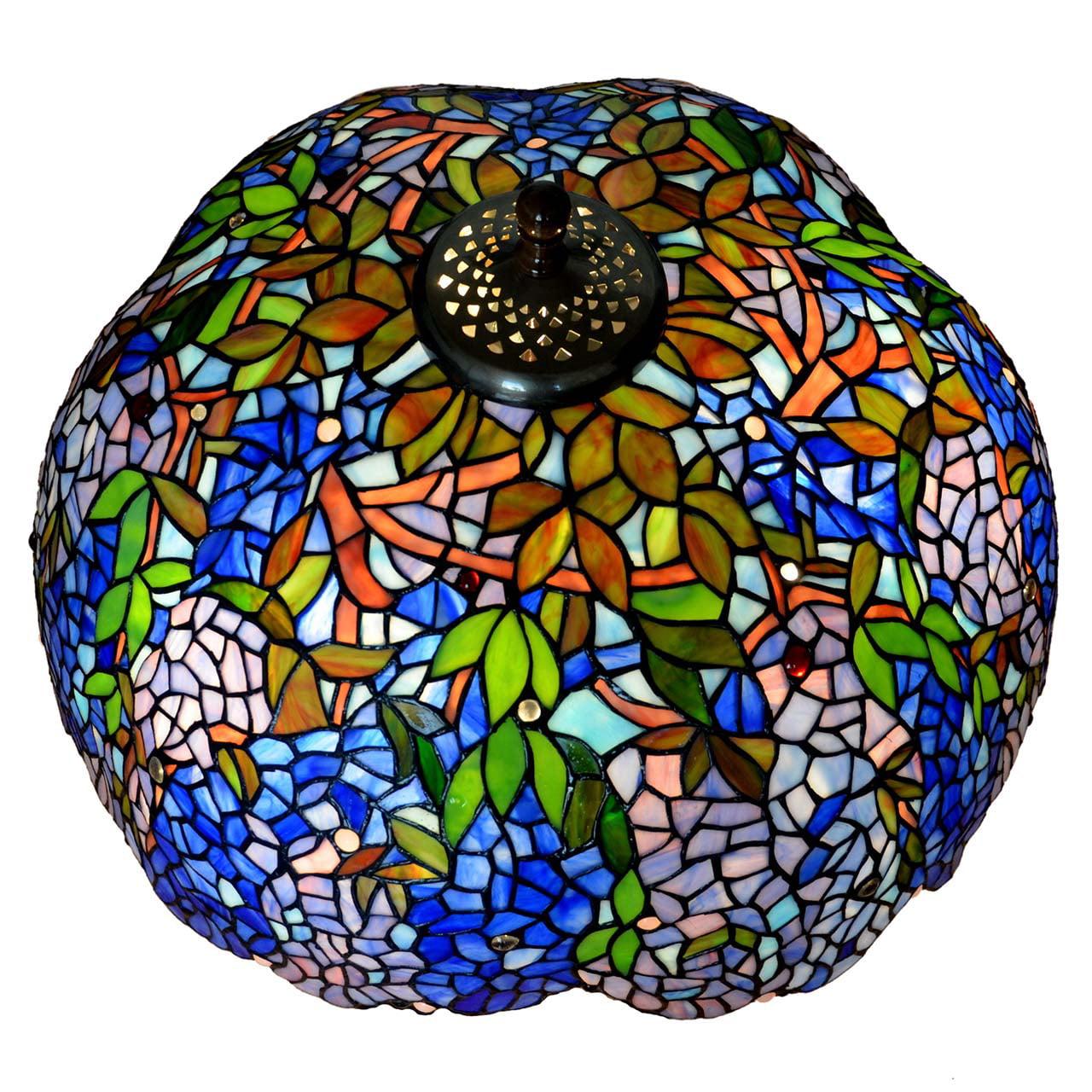 Bieye S10001 22 Inches Wisteria Tiffany Style Stained Glass Lampshade Walmart Com Walmart Com