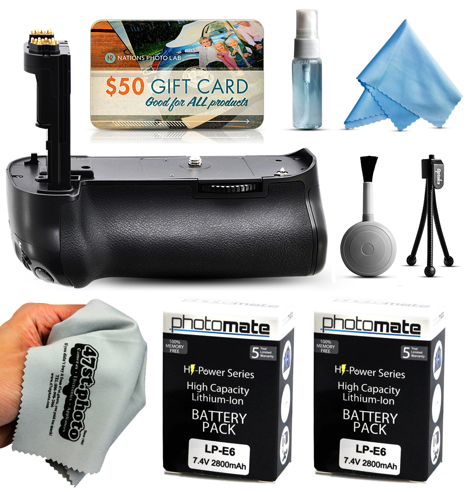 Multi Power Battery Grip + (2 Pack) Ultra High Capacity L...