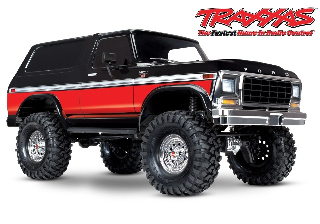 Traxxas 82046-4-RED Bronco Ranger XLT TRX-4 1 10 Scale and Trail Crawler Truck by TRAXXAS