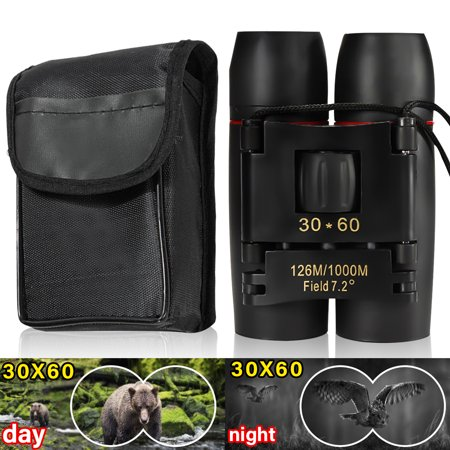 Day& Binoculars 30 x 60 Outdoor Binoculars for Folding Spotting Tele Bird Watching Waterproof Christmas Gifts Travel