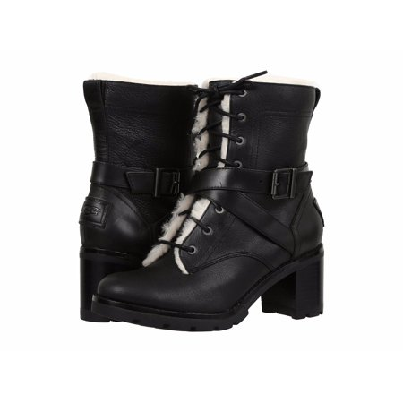 aca300aee7 UGG Women's Ingrid Lace Up Lug Sole Stacked Heel Boots 1012905
