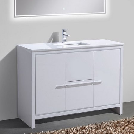 Kube bath dolce 48 39 39 single sink modern bathroom vanity - Walmart bathroom vanities with sink ...