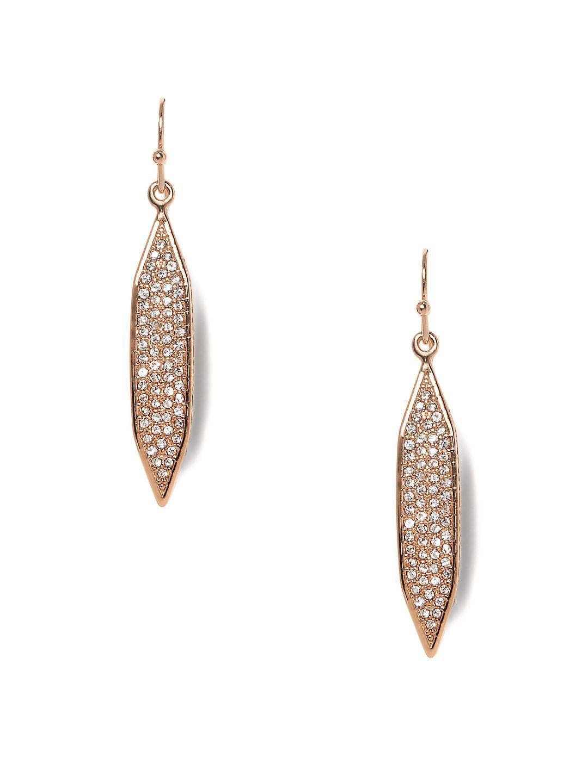 Hidden Details Pavé Crystal Linear Drop Earrings