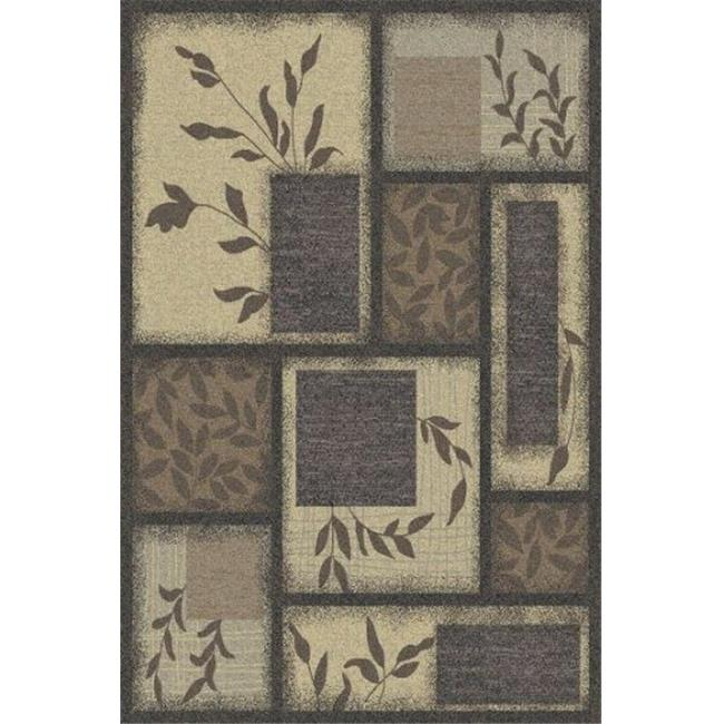 IMS 28680485104817 5 ft. x 8 ft. AREA RUG-SPRING MEADOW PATTERN-GRAY