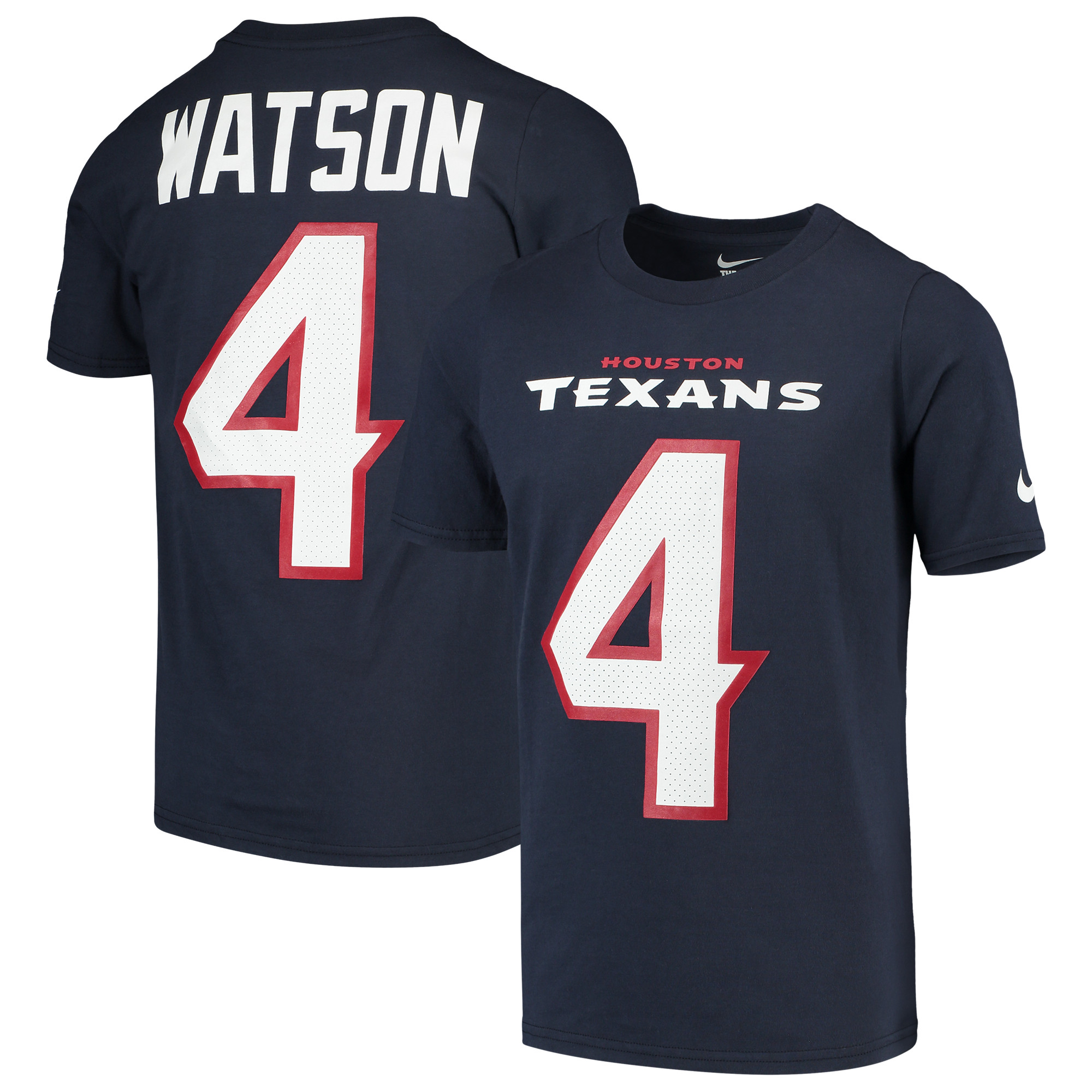Deshaun Watson Houston Texans Nike Youth Player Pride 3.0 Name & Number T-Shirt - Navy