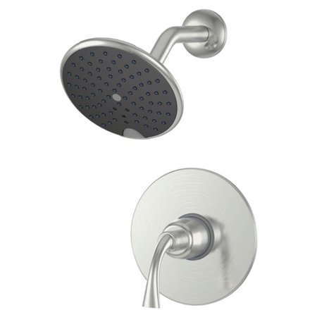 Ultra Faucets UF79303-1 Brushed Nickel Single Handle Twist Tub and Shower Faucet (Brushed Nickel Faucet)
