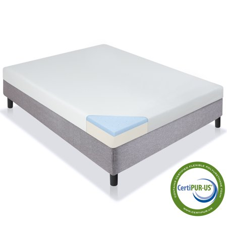 "Best Choice Products 5"" Dual Layered Gel Memory Foam Mattress CertiPUR-US"