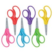 """Westcott Kids Scissors, 5"""", Stainless Steel, Pointed, for School, Assorted Colors, 6-Count"""