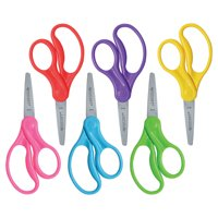 "Westcott 5"" Pointed Kids Scissors 6 Count Classpack, Assorted Colors"