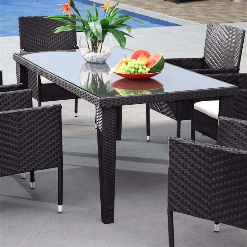 ZUO Cavendish Patio Dining Table in Espresso