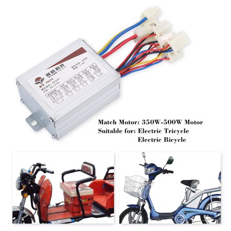 Hilitand 24V 500W Motor Brushed Controller Box for Electric Bicycle Scooter E-bike, Brushed Motor Controller,24V