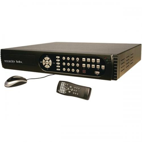 SECURITY LABS SLD265 8-Channel 500GB DVR with Dual-Stream Internet Email & 3G Phone Monitoring