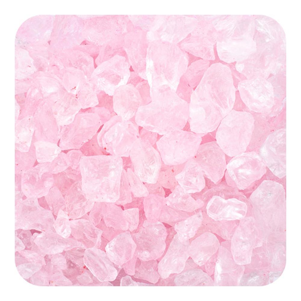 Sandtastik Preschool Kids Children Craft Colored ICE Real Glass Gems, Scatters 1.5 Pint (2 lb) 4 - 10 mm - Pink