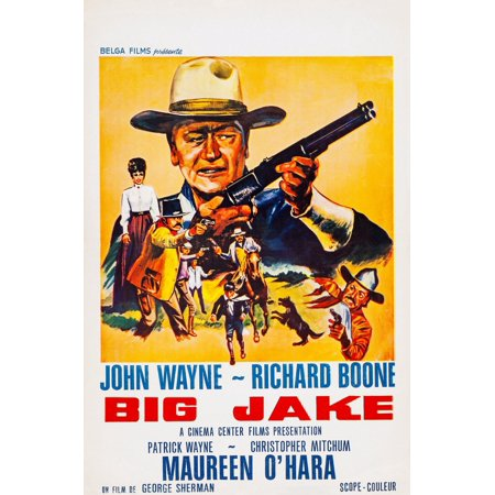 Big Jake Top John Wayne On French Poster Art 1971 Movie Poster Masterprint