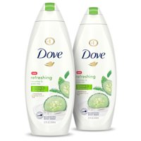 (2 Pack) Dove Go Fresh Body Wash Cucumber and Green Tea, 22 oz