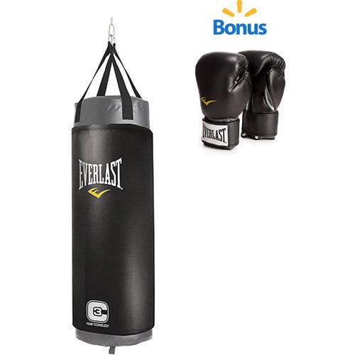 Everlast C3 100-lb. Foam Elite Heavy Bag and Pro Style Boxing Gloves Value Bundle