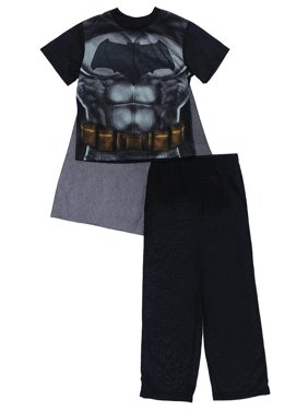 DC Comics Boys 4-110 Batman v Superman Pajama Set With Cape