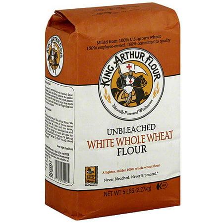 King Arthur Whole Wheat White Flour, 5 lb (Pack of 8