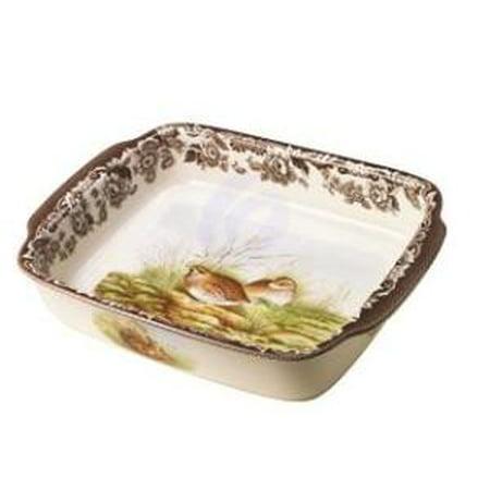 Spode Woodland Rabbit and Quail Rectangular Handled Dish
