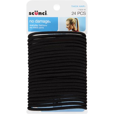 Scunci No Damage Hair Ties Black - 24 CT - Walmart.com 0d099de5327