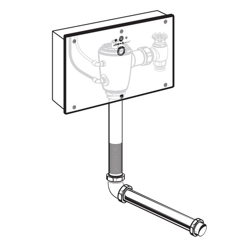 American Standard 6065.322.007 Selectronic Concealed 1.28 GPF Battery Powered Toilet Flush Valve with Wall Box, Rough Brass
