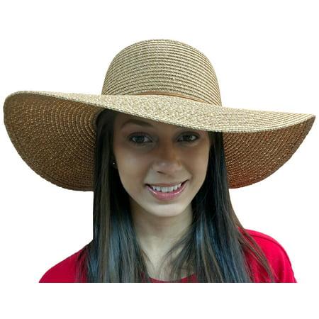 Yacht & Smith Floppy Stylish Sun Hats Bow and Leather Design, Style A - Khaki](Yacht Captain Hats)