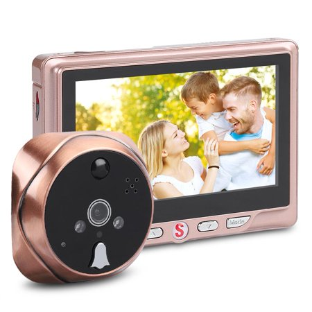 FAGINEY 4.3inch LCD Peephole Message-function Camera Doorbell Electronic Motion Detection Viewer ,Message-function Viewer Doorbell,Peephole Camera Doorbell - image 1 of 8