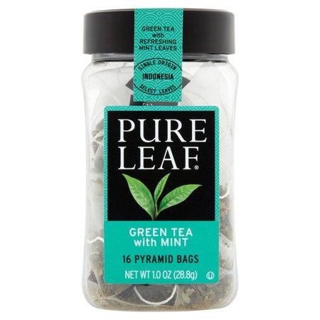 Pure Leaf thé vert chaud avec sacs de thé menthe, 16 count